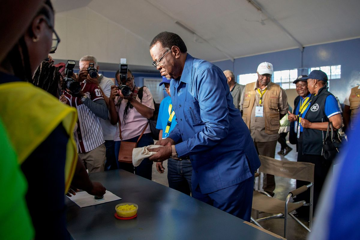 Namibia's Geingob Wins Vote in Swapo's Worst-Performance Yet