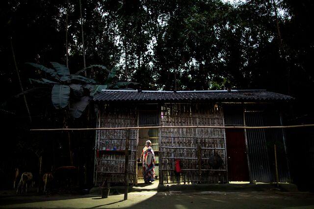 Khatun at her home in Tilapara, Assam.