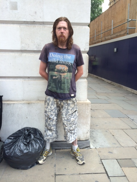 Carl Robits, 34, homeless in London