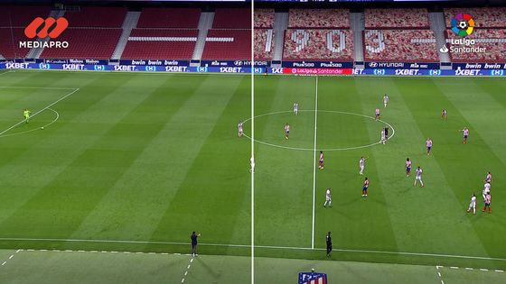 Gaming Tech Replaces Soccer Crowds to Cheer on Real, Barcelona