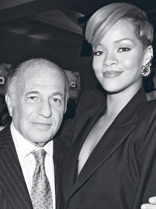 Morris with Rihanna