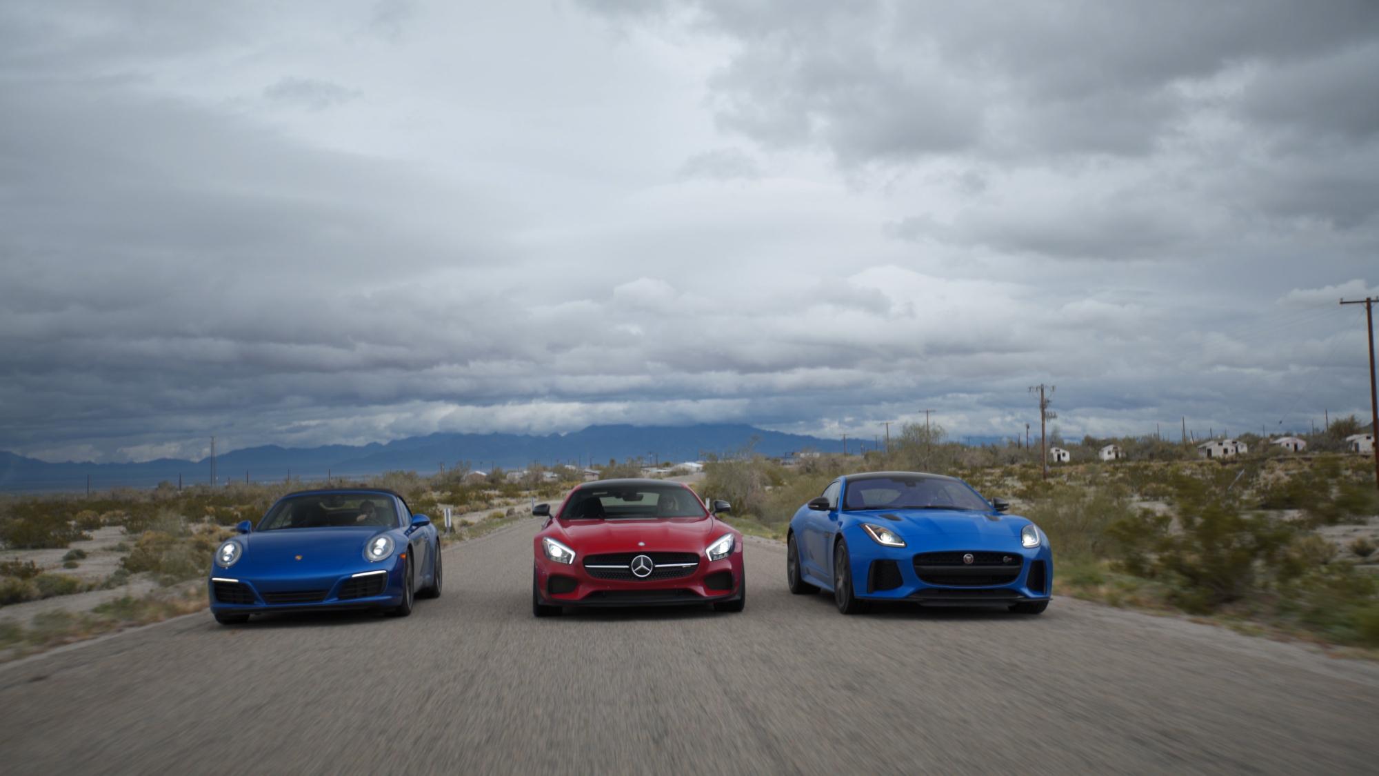 Is the Perfect Sports Car a Porsche, Jaguar or Mercedes?