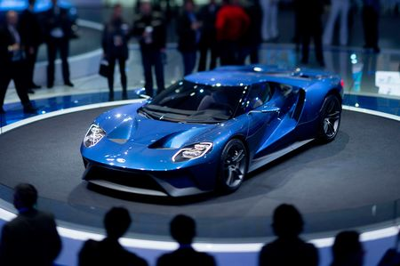 The Ford GT at the Detroit auto show in 2015.