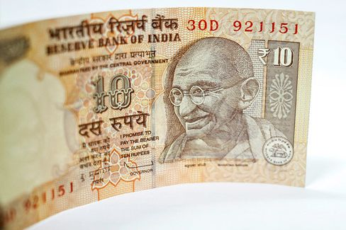 India???s Rupee Slides to a Record Low