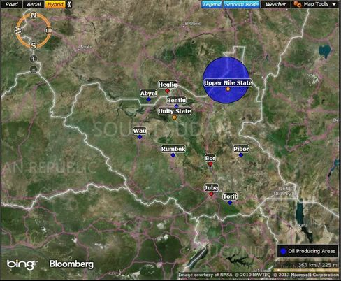 MAP: South Sudan's oil-producing areas