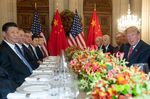 Donald Trump and Xi Jinping hold a dinner meeting at the end of the G20 Leaders' Summit.