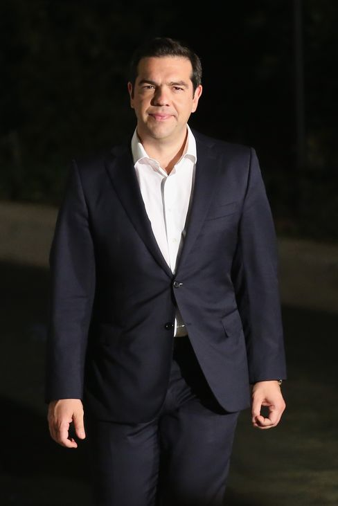 PM Alexis Tsipras headed to see the President of Greece after the 'No' vote result became clear
