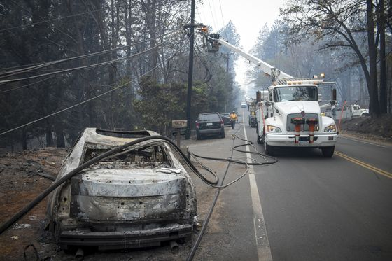 PG&E Credit Cut to Brink of Junk by Moody's on Wildfire Risk