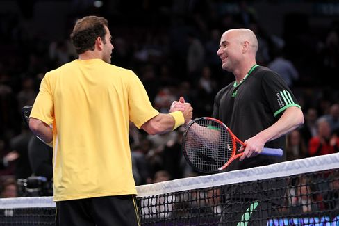 Tennis Legends Sampras and Agassi