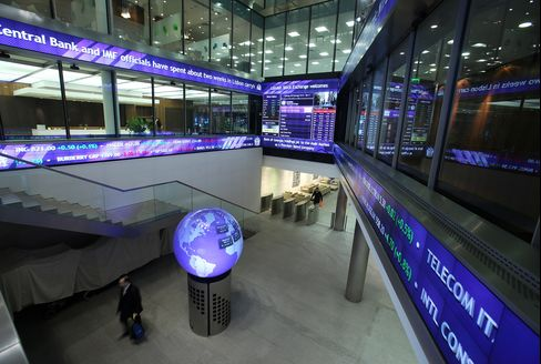 European Stocks Drop as BOE Inflation Forecast Sinks Gilts