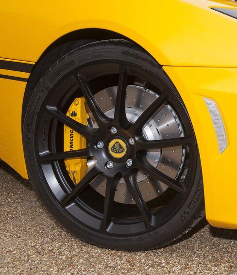 A Lotus Evora 410 tire.