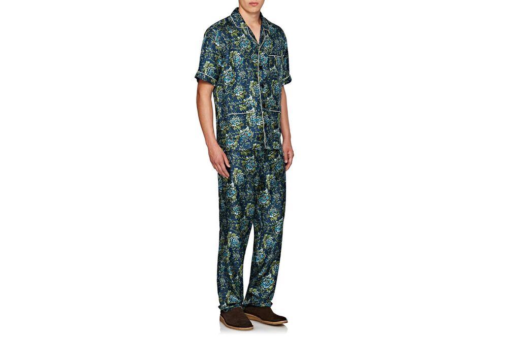 4098801374 Burberry X Barneys New York Floral-Print Silk Pajamas