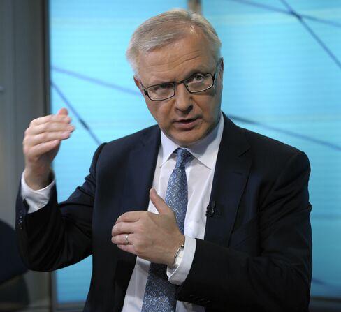 EU Commissioner for Economic and Monetary Affairs Olli Rehn