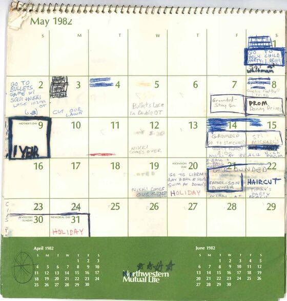 Kavanaugh's High School Calendar Lists Movies, Camp and Grounding