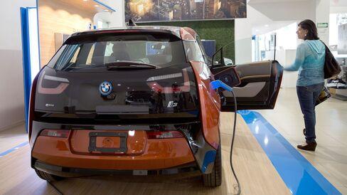 A BMW i3.