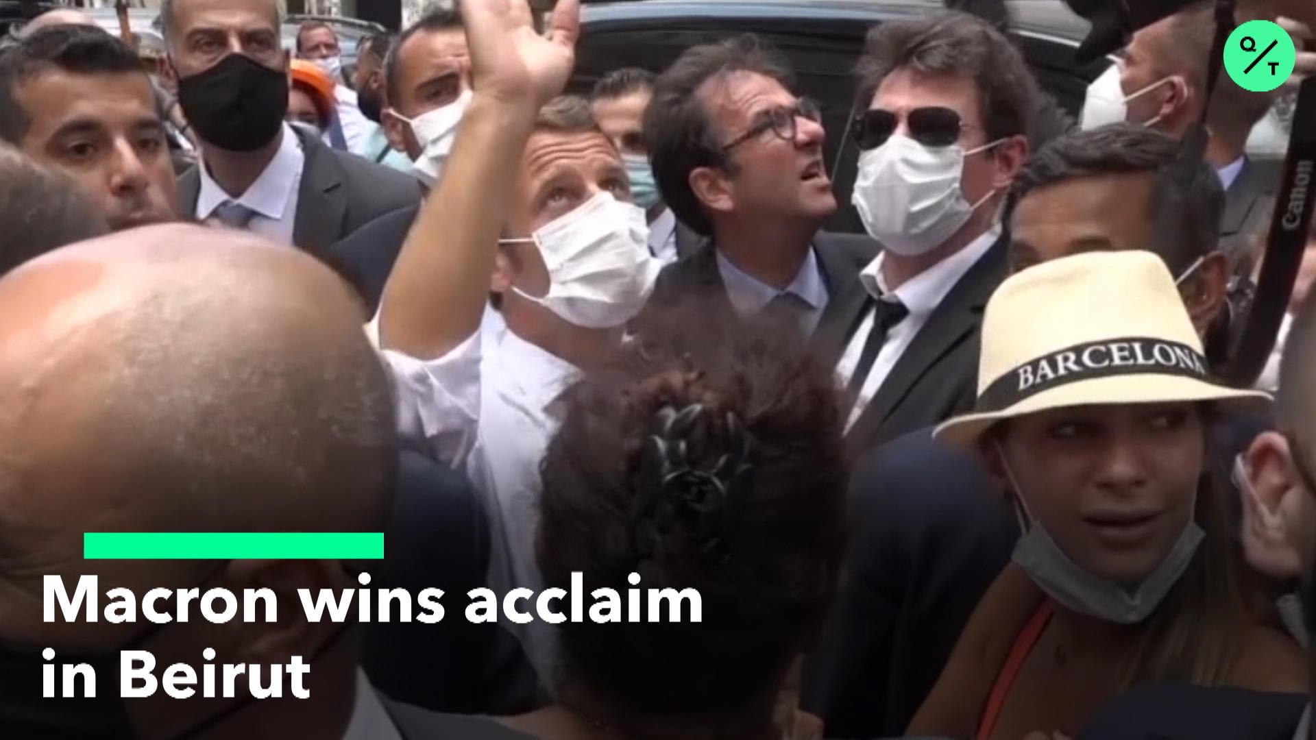 President Macron Arrives in Beirut
