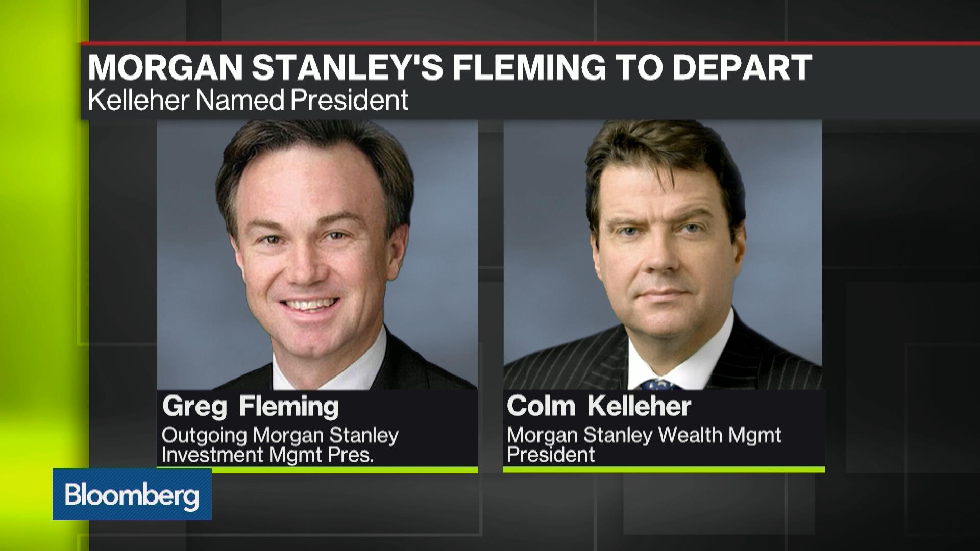 Executive Shuffle at Morgan Stanley: Fleming to Leave Firm