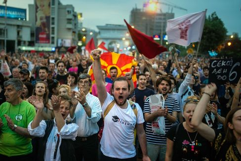 Macedonia's President Gjorge Ivanov initial decision to halt wire-tapping probes sparked major protests.