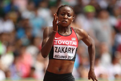Joyce Zakary of Kenya competes in the Women's 400 metres heats during day three of the 15th IAAF World Athletics Championships Beijing 2015 at Beijing National Stadium on Aug. 24, in Beijing.