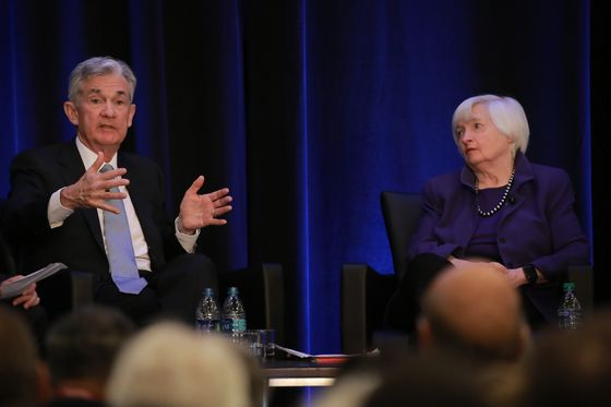 Yellen and Powell Wary of Financial Froth While They Push Stimulus