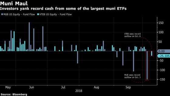 Investors Yank Record Cash Out of Stock, Real Estate, and Muni ETFs