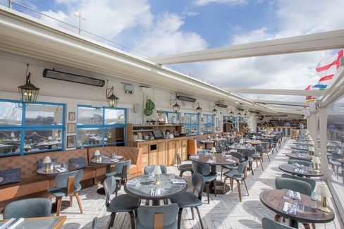 The roof of Selfridges is a great place for a long lunch when the sun is shining.