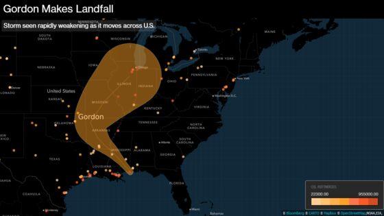 Storm Gordon Forecast toWeakenRapidly After Making U.S. Landfall