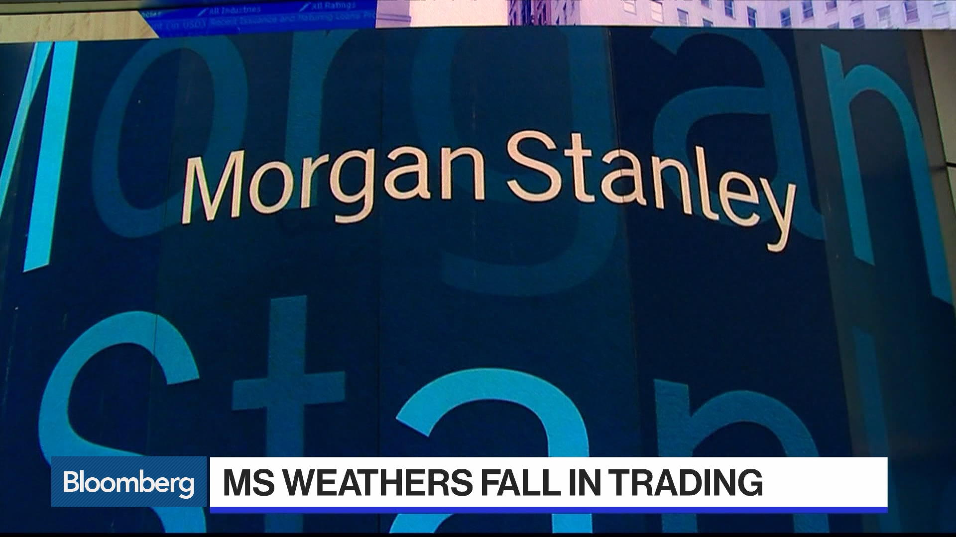 UBS' Hawken on Morgan Stanley Earnings - Bloomberg