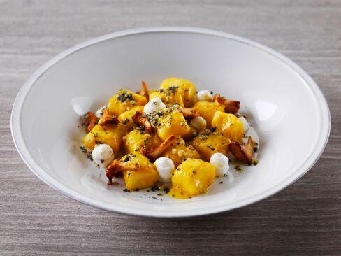 Marina Social's Potato gnocchi, girolle, parmesan & sage.