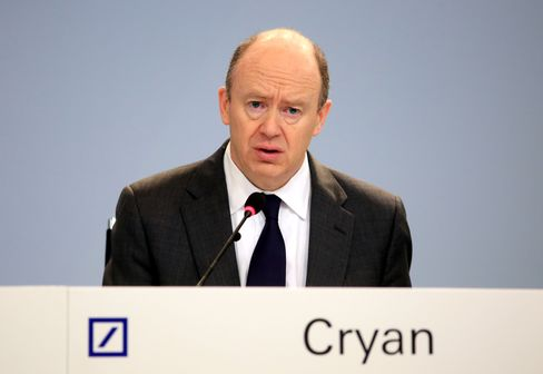 John Cryan speaks during a press conference in Frankfurt.