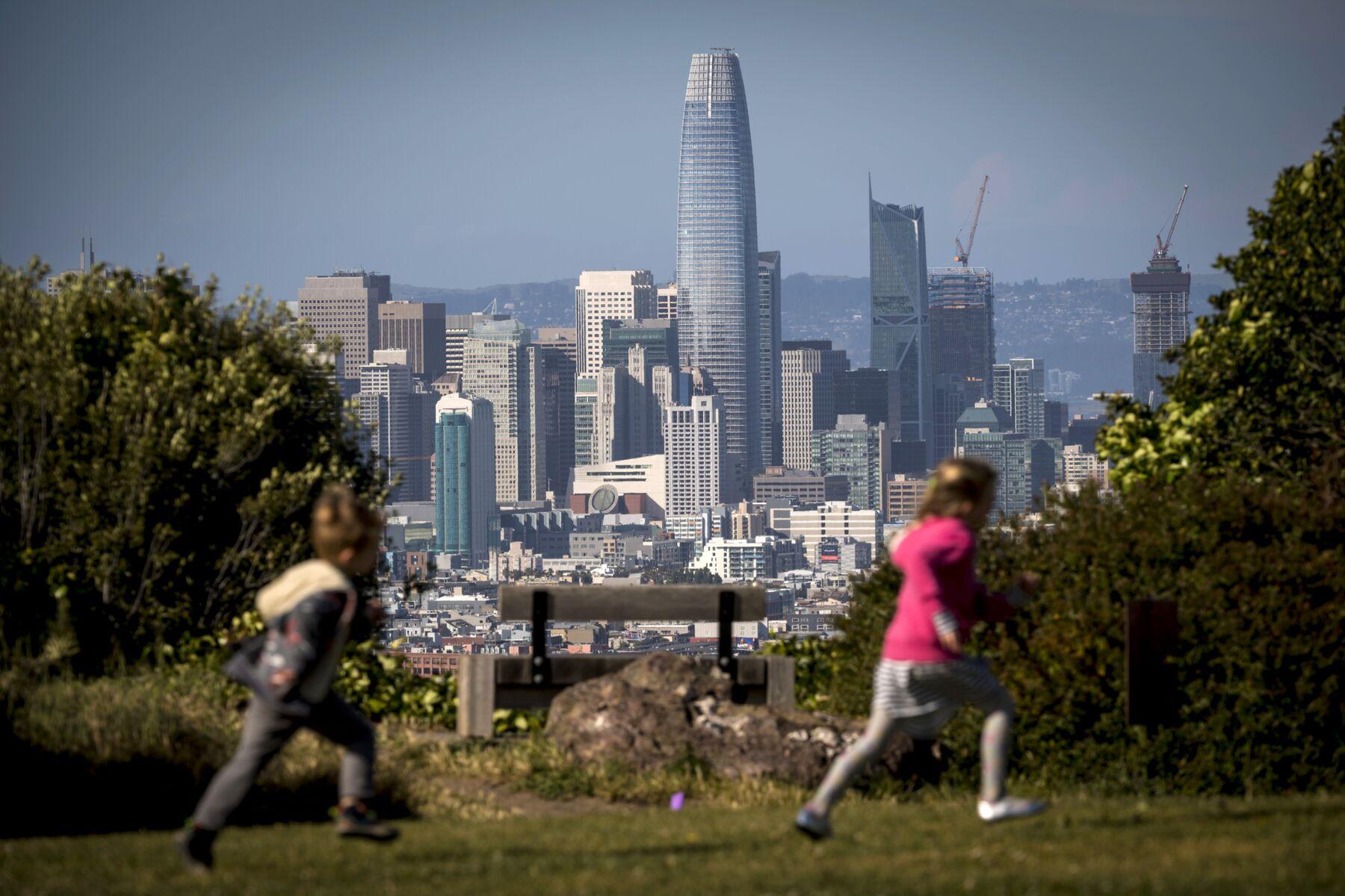 The San Francisco skyline.