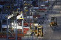 Container Loading Operations At DP World Ltd.'s London Gateway Port