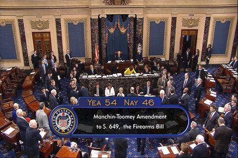 Senate Defeats Background-Check Plan, Imperiling Gun Bill