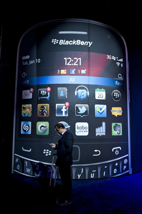 RIM Tumbles After BlackBerry's U.S. Market Share Shrinks to 1.6%