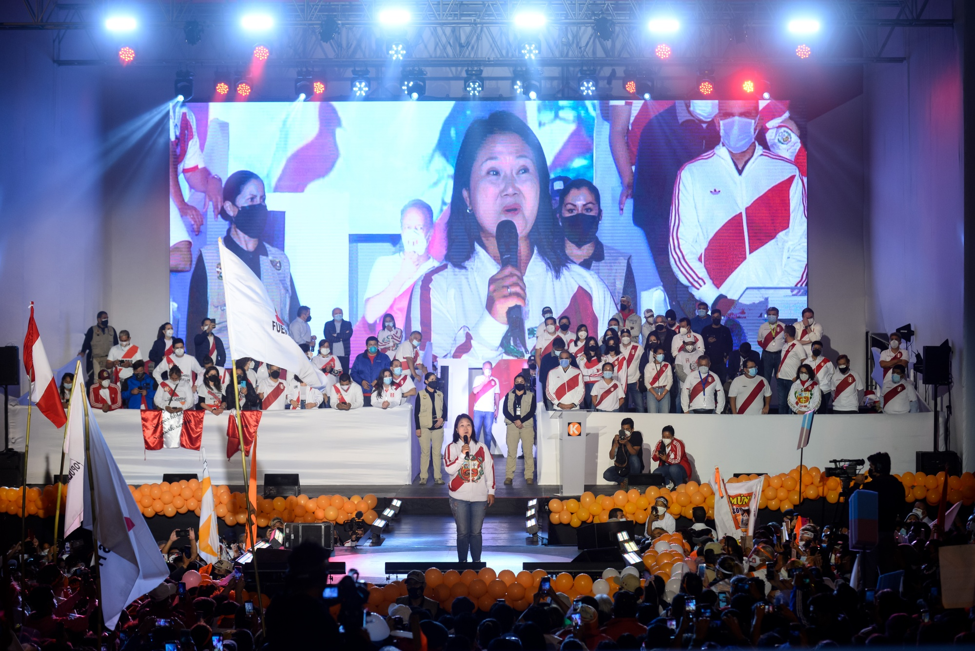Presidential Candidate Fujimori Holds Final Campaign Rally Ahead Of Elections
