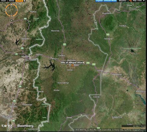 MAP: Chimoio, Mozambique