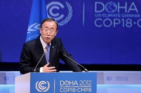 UN's Ban Pushing for Details on Climate Pledges for $100 Billion