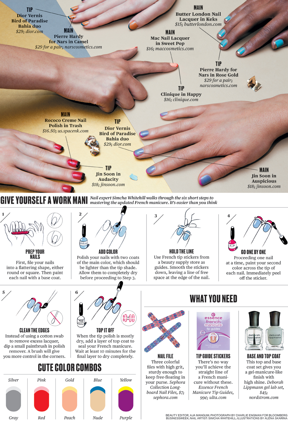 The New French Manicure: A Guide - Bloomberg