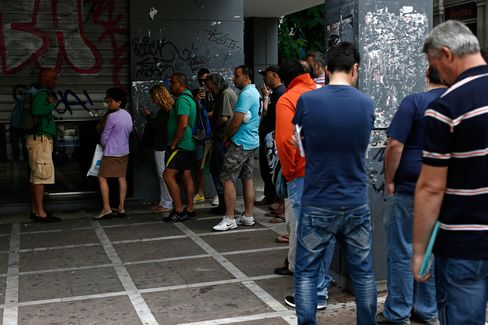 Queues At Job Centers As Greece Steps Up Efforts To Secure Financial Aid