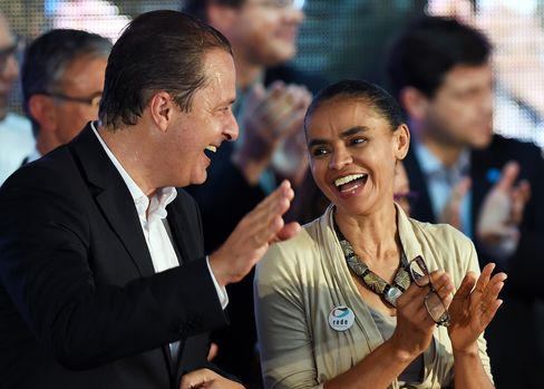 Socialist Party Candidates Eduardo Campos and Marina Silva