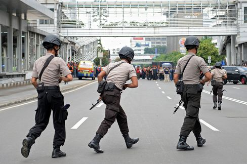Explosions Hit Central Jakarta With Several People Killed