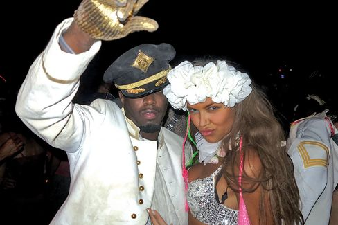 Diddy, the hip-hop mogul also known as Sean Combs, at Burning Man with songwriter Bella Hunter in 2014.