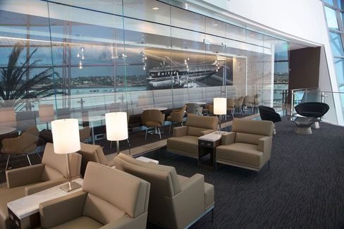 The new United Club at San Diego International Airport.