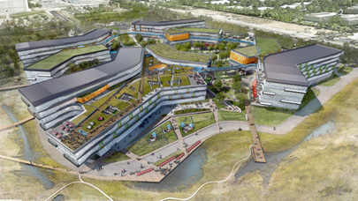 Google's new headquarters: The company is restoring acres of wetlands