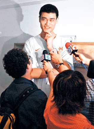 2002: 7-foot-6, Shanghai-born Yao Ming is drafted by the Houston Rockets