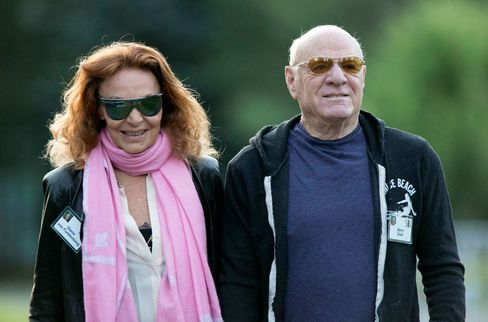 Barry Diller, chairman and chief executive officer of IAC/InterActiveCorp, at the Allen & Co. Media and Technology Conference in Sun Valley, Idaho, with his wife Diane von Furstenberg.