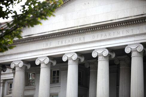 The U.S. Treasury Building in Washington D.C.