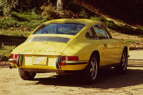 The 1971 Porsche 911S in hardtop form; the 911 S was also available in a Targa.