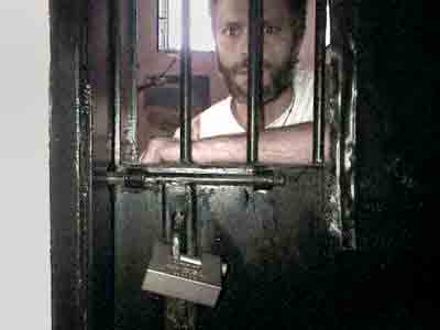 López inside his cell at the military prison of Ramo Verde on Sept. 11, 2015.