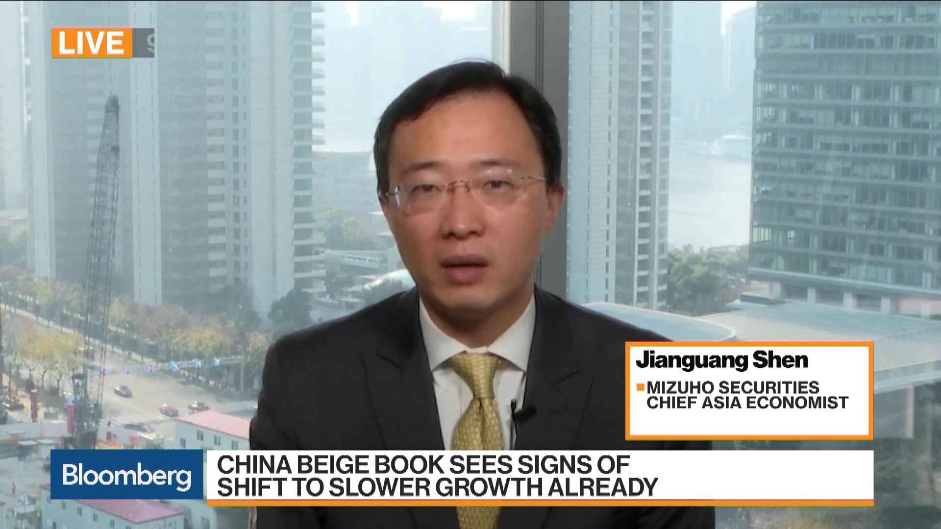 Mizuho's Shen Says Chinese Slowdown Is Inevitable